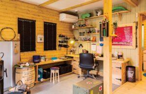 ガレージやリビング、趣味の空間にも使える!土間空間のある「BESS」の家。